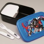 Transformers Dark of the Moon Lunch Box with Fork and Spoon